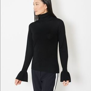 "Veronica Beard Black ""Tol""  Turtleneck"